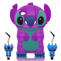 Amazon.com: 3D Stitch & Lilo ipod touch 4 Soft Silicone Case Cover with 3D Stitch Stylus Pen For itouch 4g 4th Generation - Purple: Cell Phones & Accessories