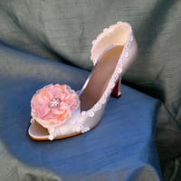 Wedding Shoes -- Blush Flower Wedding shoes -- Pick your color
