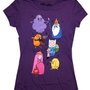 Adventure Time Group Shot Mighty Fine Cartoon Juniors Babydoll T-Shirt Tee