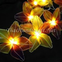 Lily Flower Fairy Lights. Flower Decorative Garland Lights