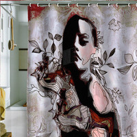Randi Antonsen Girl and Horse Shower Curtain