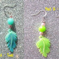 Festival Pixie Leaf Earrings from On Secret Wings