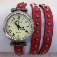 Supernova Punk Genuine Cow Leather Watch. 20% Off - 49 Dollars Only. FREE SHIPPING