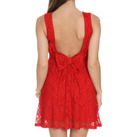 Low Bow Lace Dress | Shop Dresses at Wet Seal