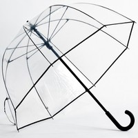 Clear Fiberglass Dome Bubble Umbrella With Black Trim