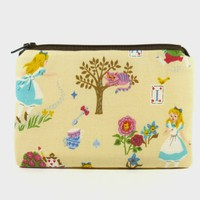 Alice in Wonderland - Small zipper pouch / coin purse