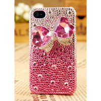 iPhone4S/4/3GS Bow Crystals Girly Case Valentines Gift - GULLEITRUSTMART.COM