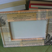 Alice in Wonderland Decoupage Frame 4x6 by CaledoniaDesigns