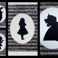 Alice in Wonderland Set of 4 Individual by desolationallie