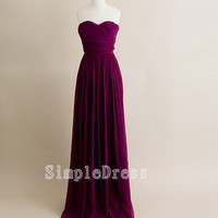 Custom Beach Sweetheart Sleeveless Floor-length Chiffon Fashion Long Bridesmaid/Evening/Party/Homecoming/Prom/Cocktail Dresses 2013