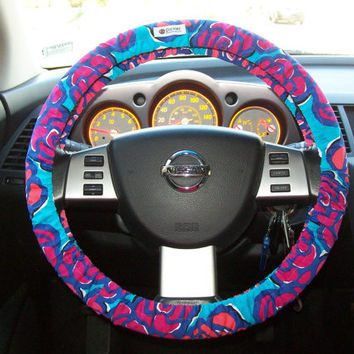 lilly pulitzer steering wheel cover from mammajane on etsy. Black Bedroom Furniture Sets. Home Design Ideas