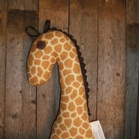 Giraffe Rattle Toy Stuffed Giraffe Rattle Plush by OurPlaceToNest