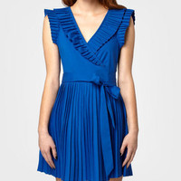 Pleated Blue New Girl Dress | Shop Necessary Objects Dresses Now | fredflare.com