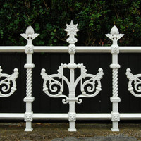 Printable photographic print - cast iron victorian fence 8x10