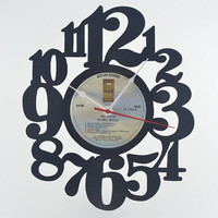 Handcrafted Vinyl Record Wall Clock (artist is Bob Dylan)