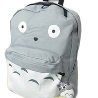 Totoro Full Size School Backpack (Bonus Plush)- 16""