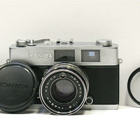 1960's Konica 35 mm Rangefinder Camera with Lens by CanemahStudios
