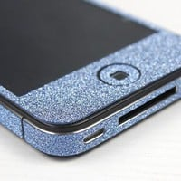 Nice Cool Shiny Sparking Blue Rhinestone Fashion Sticker For iPhone 5