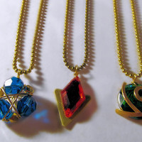 Zelda Necklace Set, Spiritual Stone Necklace Set, Ball Chain