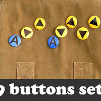 Legend of Zelda Buttons - Ocarina of Time Music Keys (9 Buttons)