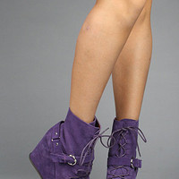 The Biker Shoe in Purple Suede : Ego and Greed : Karmaloop.com - Global Concrete Culture