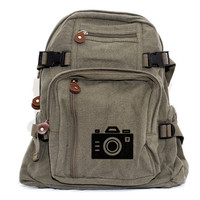 Backpack  Iconic Camera   Men & Women Lightweight by mediumcontrol