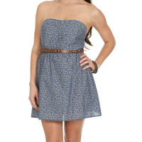 Chambray Printed Tube Dress | Shop Dresses at Wet Seal