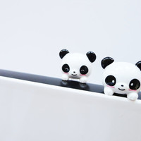 Cute set of 2 Couple PANDA - IPhone & earphone dust plug - Cellphone Accessories