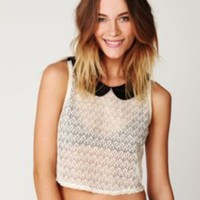 Free People Peter Pan Lace Top at Free People Clothing Boutique