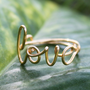 Gold Wire Love Ring Adjustable Fit Most Size by FabulousWire