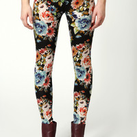 Vanessa Floral Brushed Knit Leggings