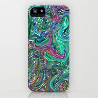 Magma (blue) iPhone Case by Shawn Terry King | Society6