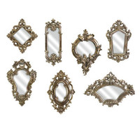 I love the 7 Piece Loletta Wall Mirror Set in the Rustic & Romantic event at Joss and Main!