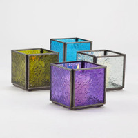 Cool Square Tealight Candle Holders, Set of 4