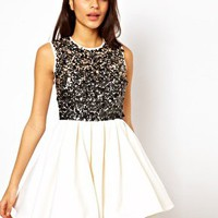 TFNC Babydoll Dress With Embellished Bodice at asos.com