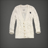 Abercrombie &amp; Fitch - &quot;Melina&quot; Classic Cable Knit Cardigan