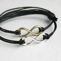 Infinity Bracelet - Bigger charm - good for man