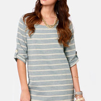 Nothin&#x27; But Blue Skies Striped Shift Dress