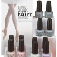 New York City Ballet Opi 2012 Collection Whole Set 6pcs