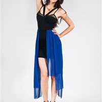 Royal Blue Chiffon Dress