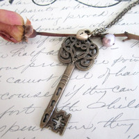 Skeleton Key Necklace by 636designs on Etsy