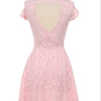 LULU Short Sleeve Lace Dress