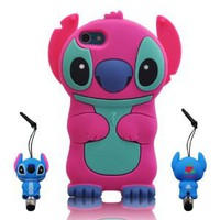 Amazon.com: 3D Stitch & Lilo ipod touch 5 Hot-Pink Soft Silicone Case Cover With 3D Stitch Stylus Pen For itouch 5g 5th Generation: Cell Phones & Accessories