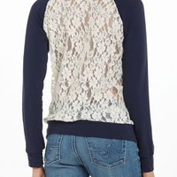Astern Lace Sweatshirt - Anthropologie.com