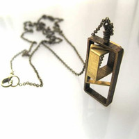 Geometric Rectangles Necklace