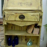 Handmade Desk and Bookcase Antiqued and Shabby by honeystreasures