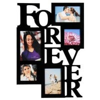 "Amazon.com: 5 Opening FOREVER Photo Picture Frame - 12AD001-B ADECO - Wall Art,Wall Collage, Holds Two 4x6, Two 4""x4"" Inch, and One 5""x7"" Inch Photos Great Gift,Wooden,Black: Home & Kitchen"