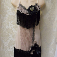 Speakeasy Happy Hour Flapper Vintage Slip Make Over by pinkpurse