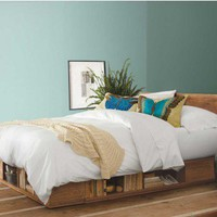 Vintage Fir Storage Bed - VivaTerra