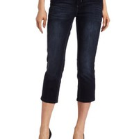 Democracy Women's Back Pockets Crop Cuffed Jean